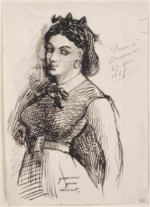 Jeanne Duval. Dessin de Baudelaire. Source: commons.wikimedia.org