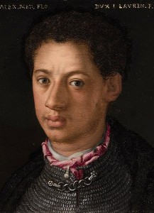 Alessandro de' Medici, duc de Florence et de Penne, Agnolo Bronzino, Galleria degli Uffizi, commons.wikimedia.org