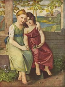C. G. Schick.Portrait Adelheid et Gabriele von Humboldt. The Yorck Project: 10.000 Meisterwerke der Malerei
