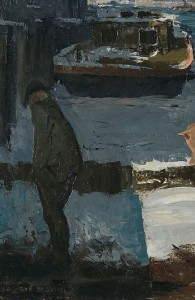 Georges Bellows, Men on docks, Detail, National Gallery