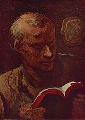 Honoré Daumier, Le lecteur, The Yorck Project: 10.000 Meisterwerke der Malerei