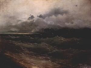 IIvan Aïvazovski, Bateaux dans la mer orageuse, commons.wikimedia.org