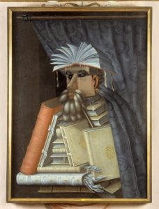 Guiseppe Arcimboldo, Le bibliothécaire, commons.wikimedia.org