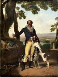 Louis Gauffier, portrait d'un chasseur supposé être le général Dumas