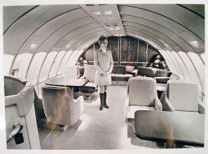 La première classe d'un Boeing 747 de la Pan Am