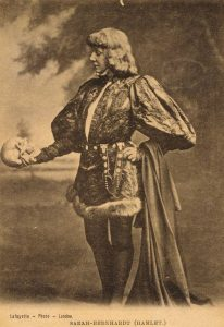 Sarah Bernhardt en Hamlet 1880-1885