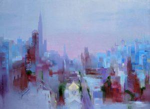 Tatiana Bugaenko, Sunset in Manhattan, saatchiart.com
