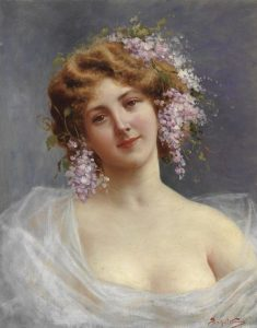 Achille Beltrame, Lady with Lilies, Pinterest