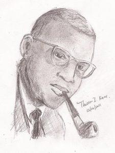 Birago Dio, dessin de Thierno I. Kane, wikimedia