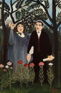 Henri Rousseau, 1909, La muse inspirant le poète, Kunstmuseum Basel