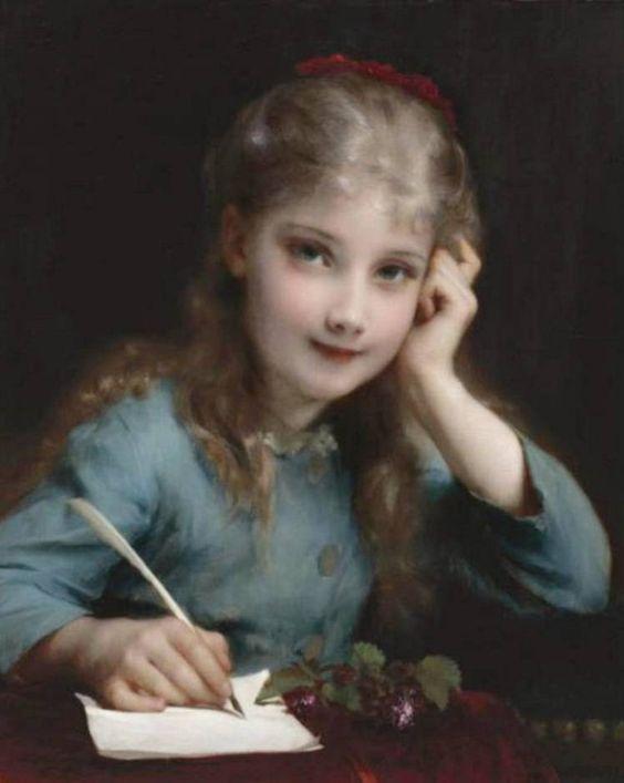 Etienne Adolphe Piot, Une jeune fille écrivant une lettre