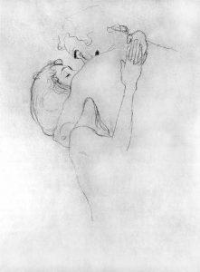 Gustav Klimt, Baiser, dessin