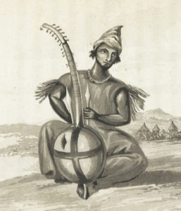 A. G. Laing, Man with a kora. source : Pinterest