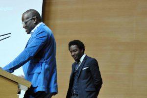 Alain Mabanckou et Marc Alexandre Oho Bambe, 2 mai 2016