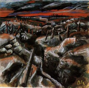 Otto Dix, Tranchées, source : Pinterest