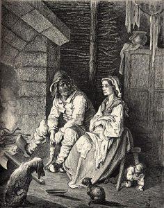 Poucet et ses parents, gravure de Gustave Doré