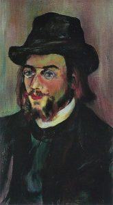 Portrait d'Erik Satie par Suzanne Valadon (1893), source : wikimedia
