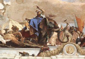 Tiepolo Giovanni, Fresque Apollon et l'allégorie des planètes et des quatre continents, Détail Asie, Metropolitan Museum, New York
