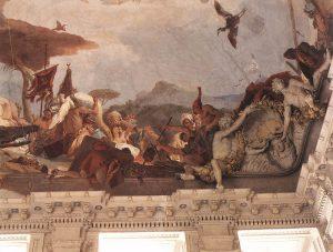 Tiepolo Giovanni, Fresque Apollon et l'allégorie des planètes et des quatre continents, Détail Amérique, Metropolitan Museum, New York