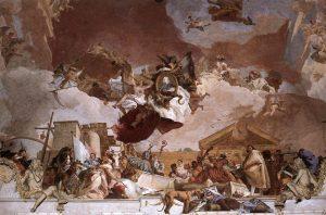 Tiepolo Giovanni, Fresque Apollon et l'allégorie des planètes et des quatre continents, Détail Europe, Metropolitan Museum, New York