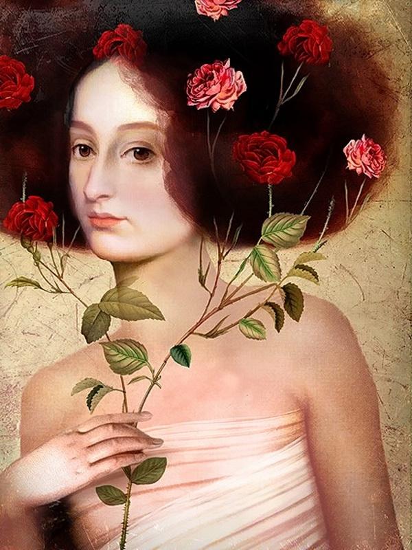 Catrin Welz-Stein, Der Blumenstrauss (le bouquet de fleurs) source : catrinwelzstein.blogspot.be