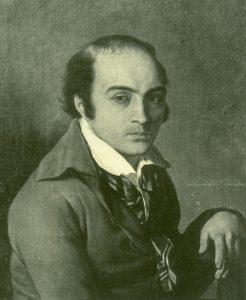 André Chénier lors de son incarcération par Joseph-Benoît Suvée, commons.wikimedia.org