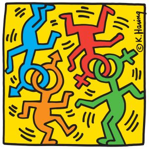 Keith Haring, Heritage of pride, logo