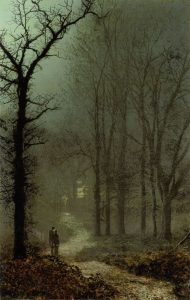 John Atkinson Grimshaw, Lovers in a Wood, 1873