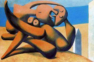 Pablo Picasso, Figures au bord de la mer, 1931, garrusart.blogspot.com