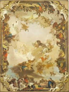 Tiepolo Giovanni, Fresque Apollon et l'allégorie des planètes et des quatre continents, Metropolitan Museum, New York