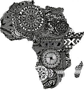 Carte de l'Afrique avec des designs africains, behance.net