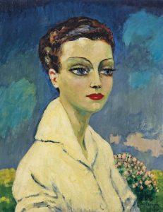 Kees van Dongen, Femme à la blouse blanche, source : christies.com