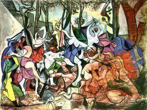 Pablo Picasso, Bacchanales? Triomphe de Pan d'après Poussin, 1944, pinterest