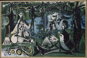 Pablo Picasso, Le déjeuner sur l'herbe d'après Manet, 1960, blog.picasso.fr