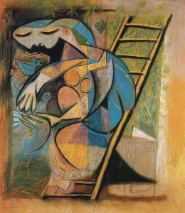 Pablo Picasso, La femme aux pigeons, 1930, centrepompidou.fr