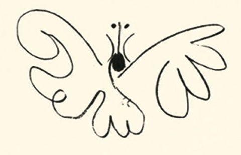 Pablo Picasso, Le papillon, lithographie
