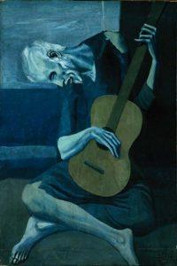 Pablo Picasso, Le vieux guitariste, 1903, pablopicasso.org
