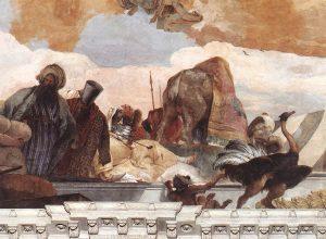 Tiepolo Giovanni, Fresque Apollon et l'allégorie des planètes et des quatre continents, Détail Afrique, Metropolitan Museum, New York