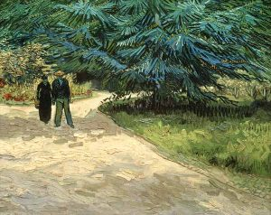 Vincent van Gogh, Couple dans un parc à Arles