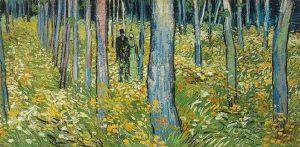 Vincent van Gogh, Sous bois avec deux promeneurs