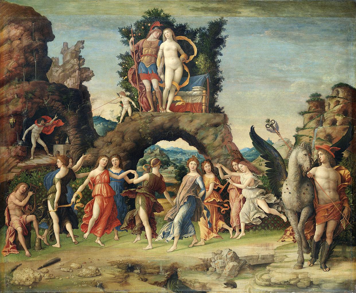 Andrea Mantegna, Le Parnasse, 1497, Musée du Louvre, Paris, commons.wikimedia.org