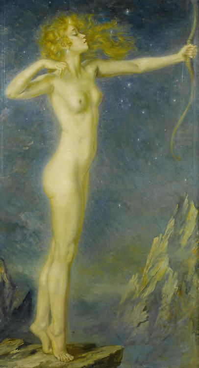 George Owen Wynne Apperley, Artemis the huntress, 1939, gowapperley.wordpress.com