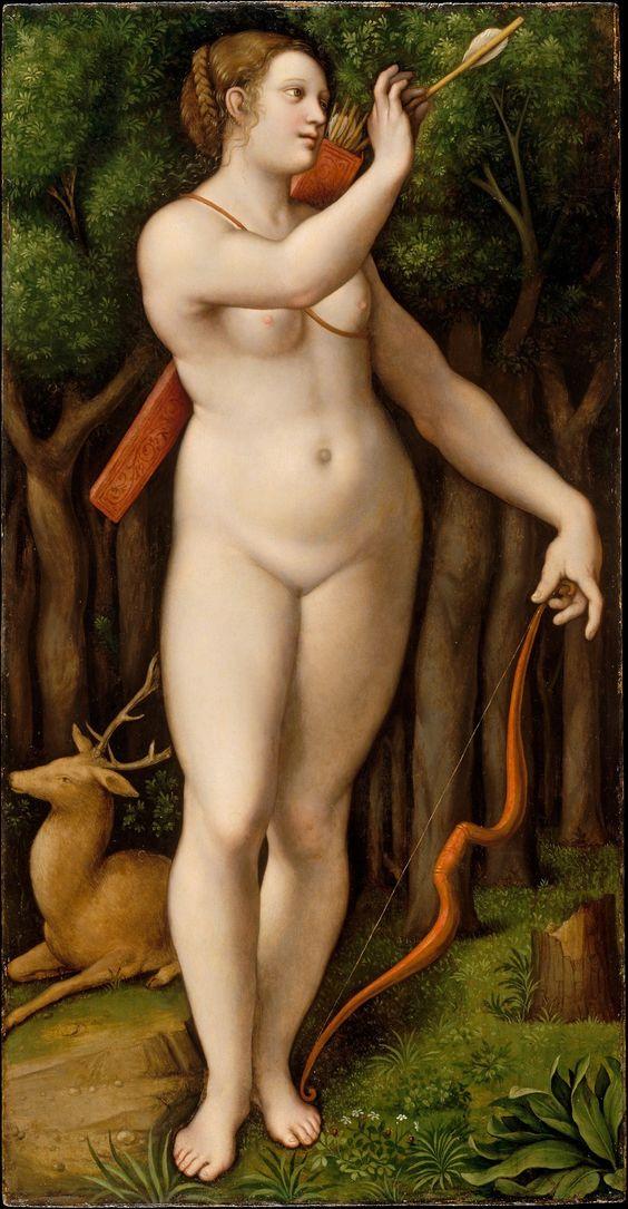 Giovanni Pietro Rizzoli Giampietrino, Diane chasseresse, 1526, metmuseum.org