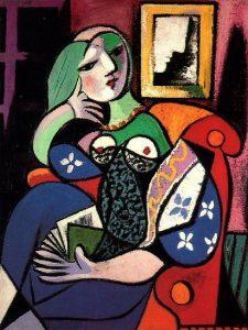 Pablo Picasso, Femme tenant un livre (Marie-Thérèse Walter), 1932, pablo-ruiz-picasso.net