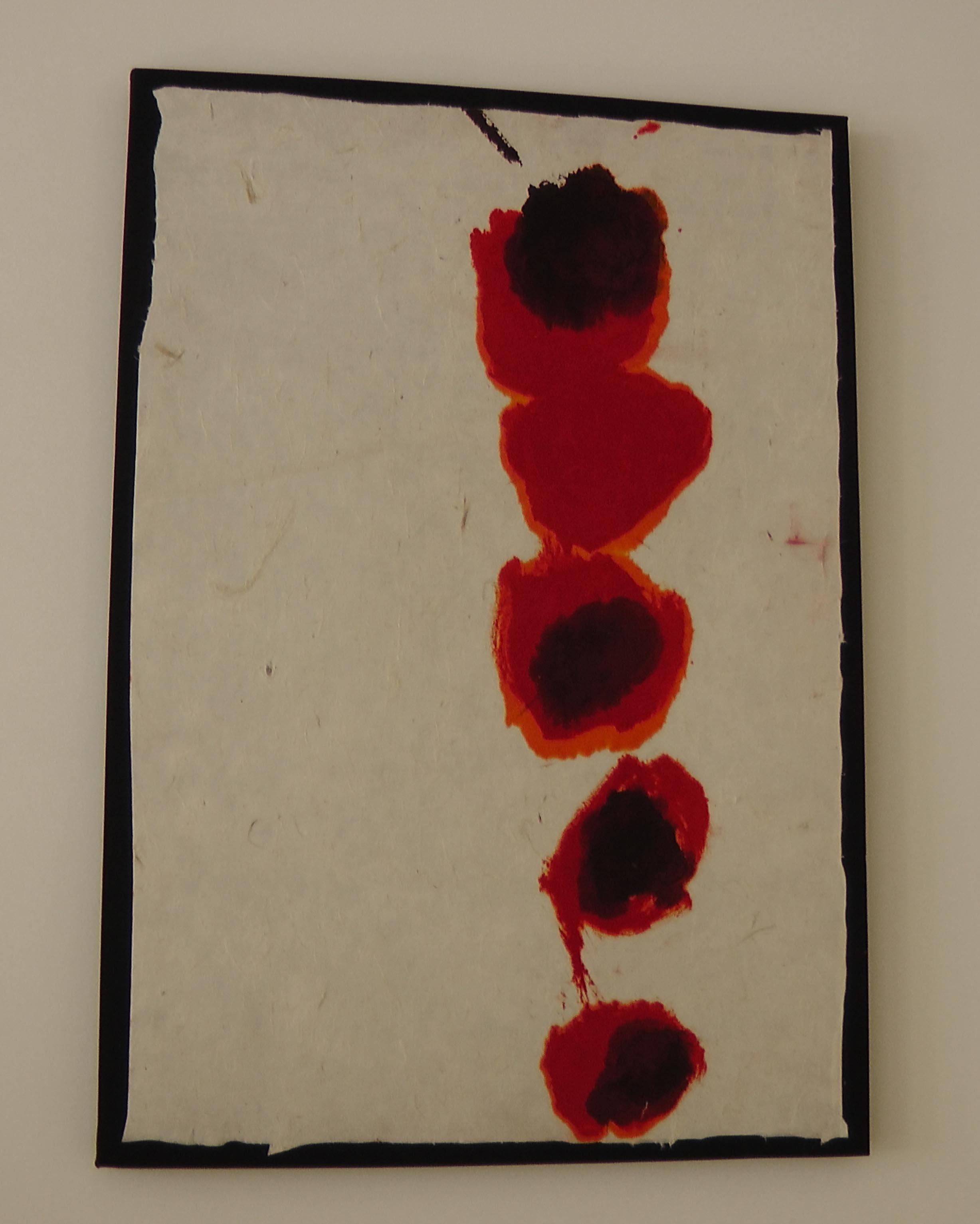 Rachel Silski, Bombs II, série Traces de coquelicots, sur papier Do, vagabondssanstreves.com