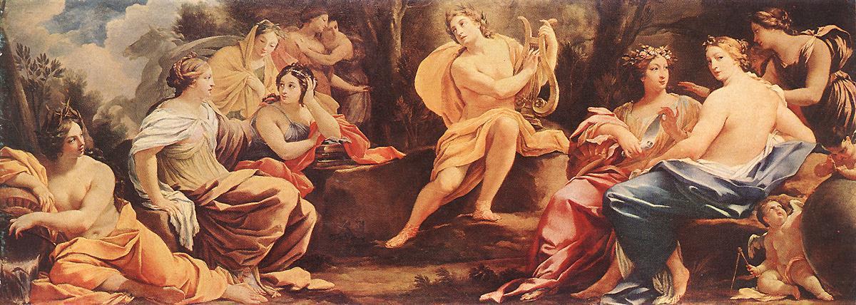 Simon Vouet, Le Parnasse ou Apollon et les muses, 1640, Musée des Beaux-Arts, Budapest, commons.wikimedia.org