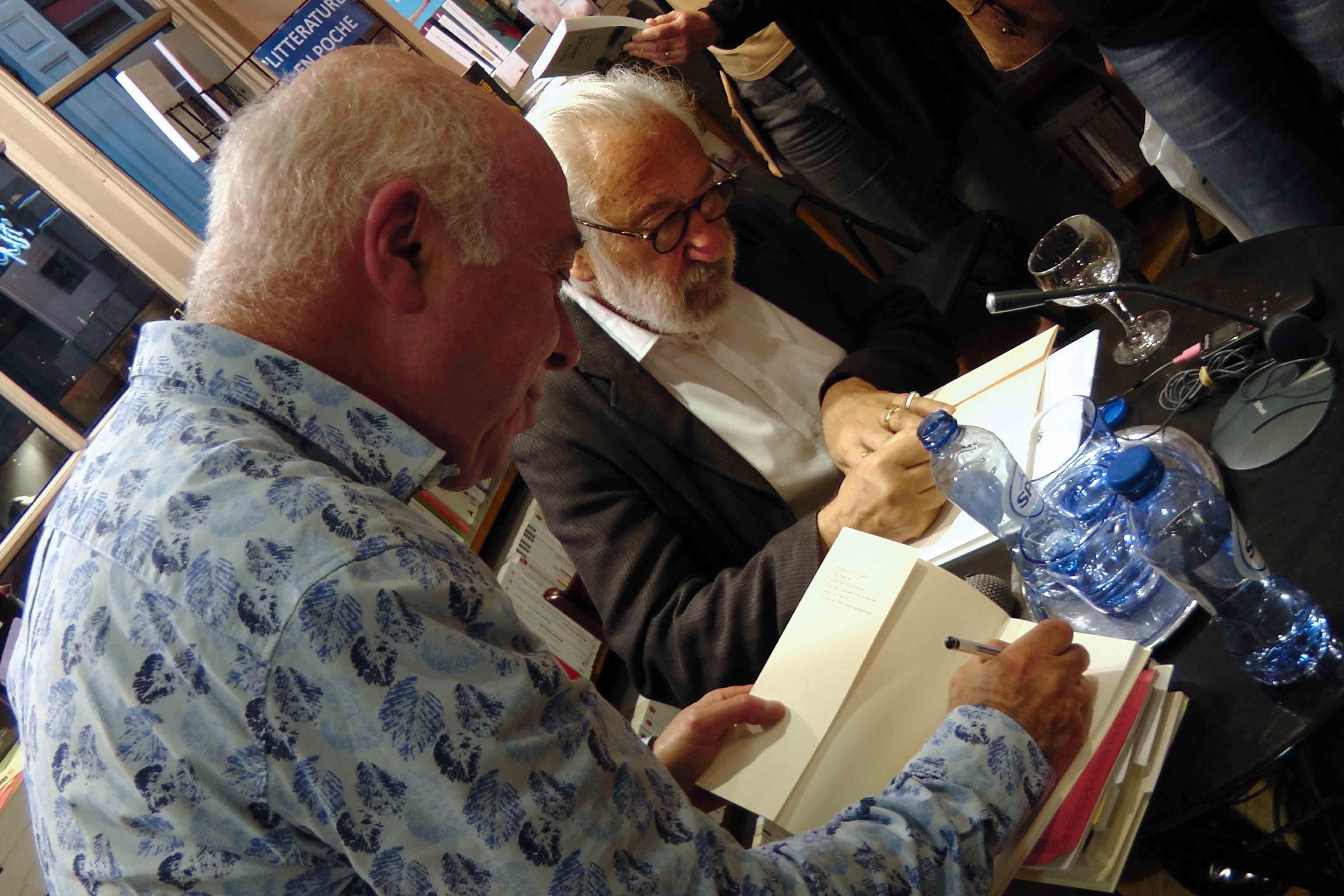 Jacques Sojcher, Richard Kenigsman, dédicaces, Librairie Tropismes, Bruxelles, vagabondssanstreves.com