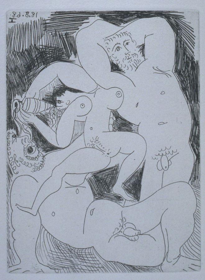 Pablo Picasso, Pourvu qu'on ait l'ivresse, 1968, art.famsf.org