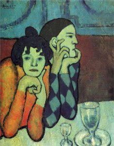 Pablo Picasso, Les deux saltimbanques (Arlequin et sa compagne), 1901, wikiart.org