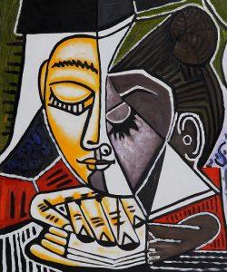 Pablo Picasso, Tête d'une femme lisant, 1953, pablopicasso.org